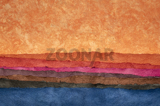 abstract desert landscape - colorful textured paper sheets