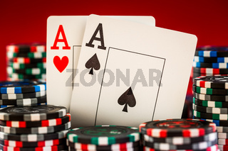 chips and two aces