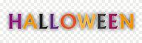 Halloween Text Shadows Transparent Header