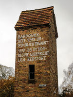 Trafohaus Bardowiek in der Wüstung an der ehemaligen innerdeutschen Grenze in Mecklenburg-Vorpommern