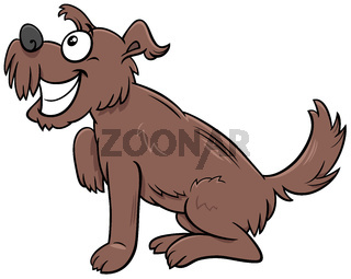 cartoon brown shaggy dog comic animal character