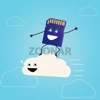 cloud storage.