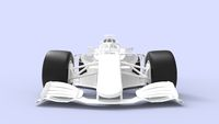 3D rendering of a sport car race car white template model isolated