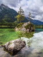 Der Hintersee in Ramsau im Berchtesgadener Land