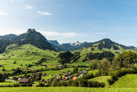 Landschaft im Toggenburg bei Nesslau, Kanton St. Gallen, Schweiz