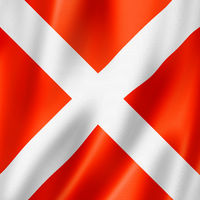 Four international maritime signal flag