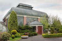 Palm House greenhouse of castle Ksiaz in Walbrzych Poland