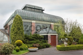 Palm House greenhouse of castle Ksiaz in Walbrzych Poland