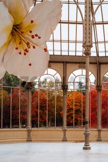 Palacio de Cristal or Glass Palace in Buen Retiro Park
