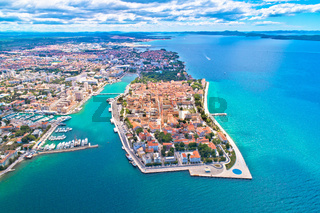 City of Zadar aerial panoramic view