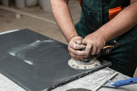 Stone furniture production.
