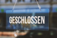 sign geschlossen meaning closed in german