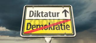 Demokratie endet Diktatur beginnt