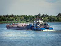 River oil tankers in Volga river, Russia