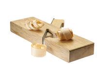 Three wood chips on a ledge slicer