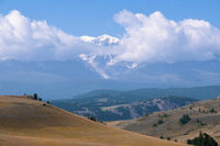 Altai landscape with high mountains