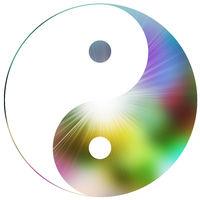 zeichen symbol yin yang farben konzept