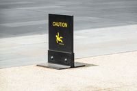 typical caution sign on the floor