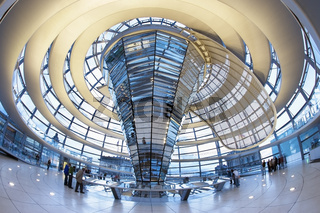 Inside the Reichstag Dome at Dusk