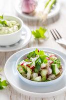 Spring salad with radish