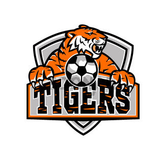Tigers Football Shield Mascot