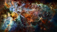 Space galaxy background with nebula. Elements of this image furnished by NASA