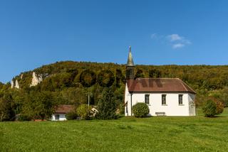 Kapelle in Neidingen im Oberen Donautal, Landkreis Sigmaringen, Baden- Württemberg, Deutschland