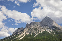 mountain peak over blue sky