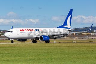 AnadoluJet Boeing 737-800 Flugzeug Flughafen Stuttgart