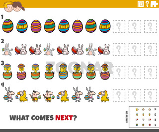 educational pattern game for kids with Easter characters
