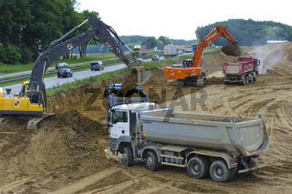 Autobahnbaustelle A8