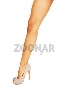 The leg of a slim young woman
