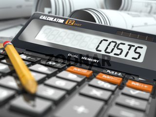 Concept of costs calculation, Calculator.