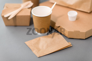 disposable paper containers for takeaway food