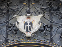 Münchner Kindl - Metallic Emblem of the City at New City Hall - Munich