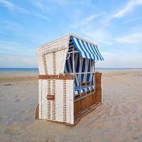 Strandkorb am Strand von Ahlbeck an der Ostseeküste