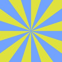 Rays light blue and yellow