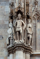 Sculptures on St. Stephen's Cathedral in Vienna
