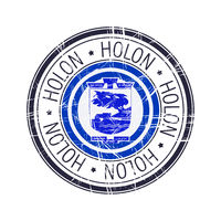 City of Holon, Israel vector stamp