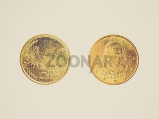 Retro look Euro coin