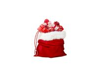 bag of gifts on white background - 3d rendering