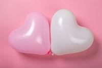 Valentine day heart balloons