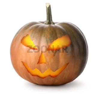Round Halloween pumpkin