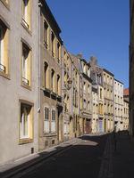 Metz - Gasse in der historischen Altstadt, Frankreich