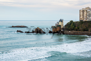 Atlantic Ocean in Biarritz, France