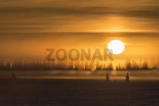 Nebelstimmung, Muddus Nationalpark, Welterbe Laponia, Lappland