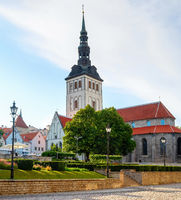 Nicholas church, park, Tallinn, Estonia