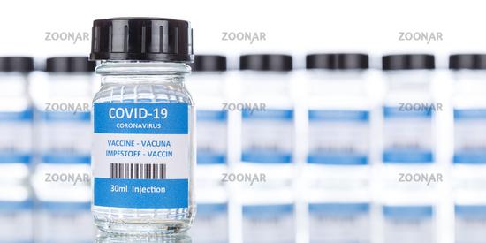 Impfstoff Coronavirus Corona Virus COVID-19 Covid Impfung Vaccine Panorama Textfreiraum Copyspace
