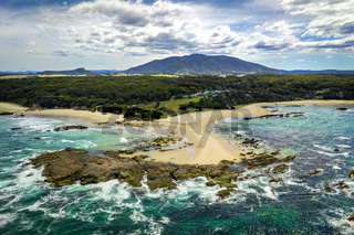 Mystery Bay and Mount Gulaga in teh distance