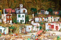 Christmas Belen -  Statuette of people and houses